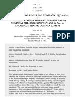 Kennedy Mining & Milling Co. v. Argonaut Mining Co., 189 U.S. 1 (1903)