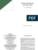 Strawson, P F - Entity and identity.pdf