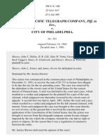 Atlantic & Pacific Telegraph Co. v. Philadelphia, 190 U.S. 160 (1903)
