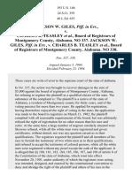 Giles v. Teasley, 193 U.S. 146 (1904)