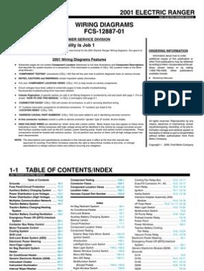 2001 Ford Ranger EV Wiring Manual   Series And Parallel ...  Ranger Hvac Control Wiring Diagram on
