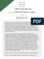 Love v. Flahive, 205 U.S. 195 (1907)