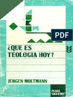 Moltman Jurgen Que Es Teologia Hoy