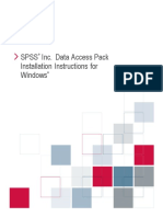 SPSS v17 SPSS Inc. Data Access Pack Installation Instructions