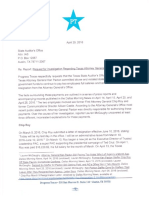 SAO Request for Investigation Re Ken Paxton 4.29.16