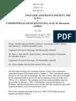 Provident Sav. Life Assurance Soc. v. Kentucky, 239 U.S. 103 (1915)