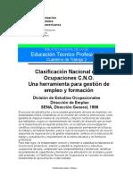 Catálogo Nacional de Ocupaciones