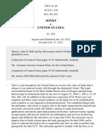Jones v. United States, 258 U.S. 40 (1922)