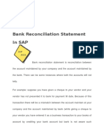 Bank Reconciliation Statement in SAP