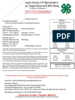 2016 Brazos Shoot Flyer and Registration Form