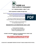 2016 Kerr Shoot Shotgun Registration