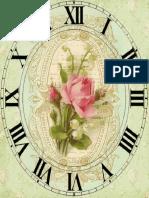reloj vintage flor