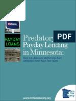 (2012) Predatory Payday Lending in MN