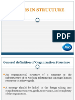 Changes in Structure in p&g