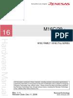 Renesas M16C/29 Hardware Manual