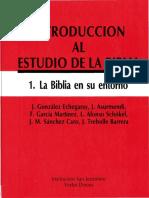 Gonzalez Echegray, La Biblia en Su Entorno