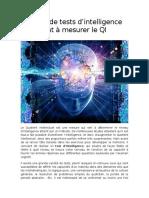 3 Sortes de Tests d'Intelligence Qui Aident à Mesurer Le QI