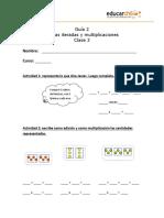 GUIA2 MAT 3ro Sumas Iteradas y Multiplicaciones