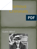 Famous Criminals PPT