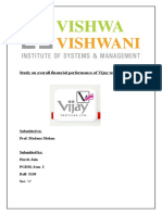 financial performance of vijay textile limited