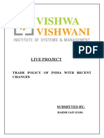 Live Project on Trade Policy