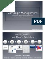 Obama's Online Campaign Management