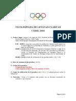 2 Circular Vii Olimpiada de Lenguas Clásicas Cadiz-2016