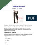 Kriteria Pembuatan Proposal