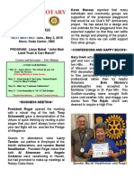 Moraga Rotary Newsletter - April 26 2016
