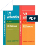 Parsonson S.L. Pure Mathematics (Volumes 1 & 2)