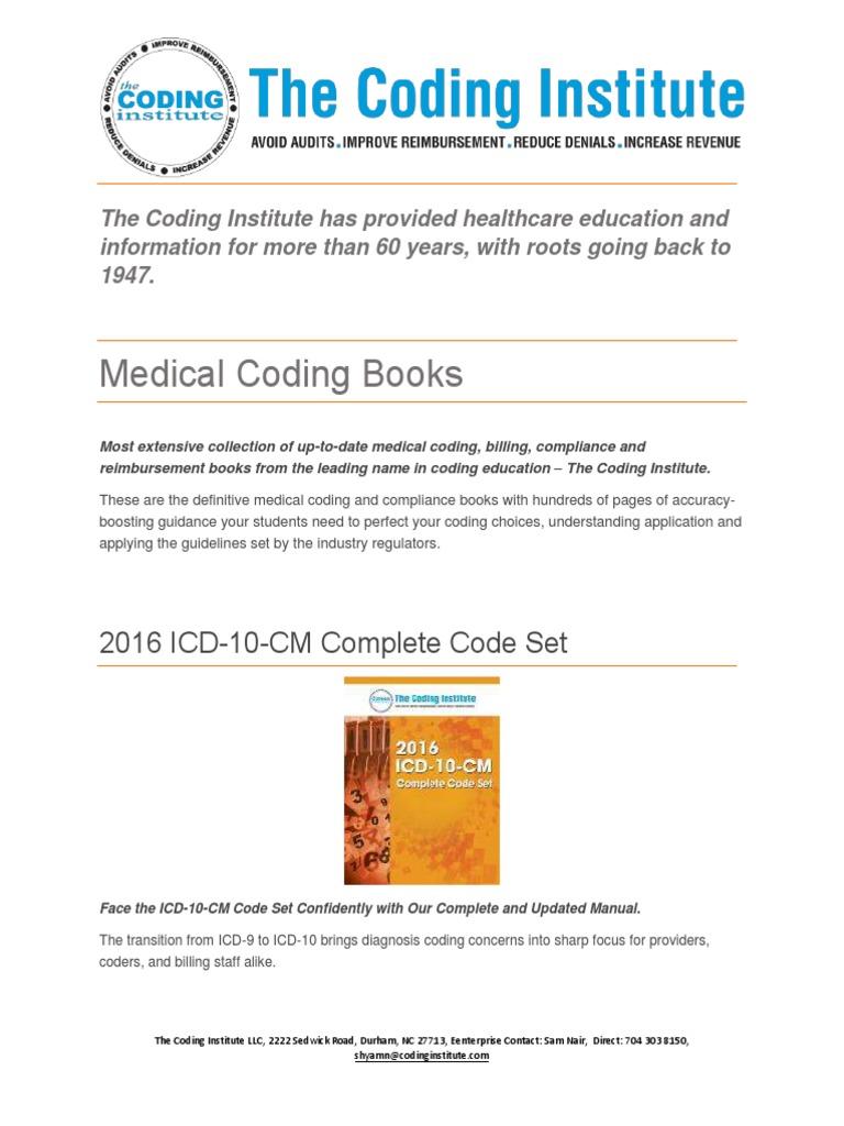 Tci Medical Coding Books International Statistical Classification