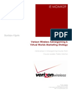 Verizon Wireless Advergaming & Virtual Worlds Marketing Strategy - Course Work
