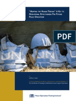 Mapping the Human Terrain - A Key to Operational Effectiveness for Future Peace Operations