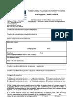 Formato de inscripción ICOM