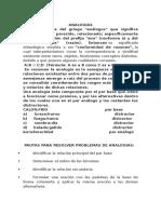 ANALOGÍAS Clases Alumnos