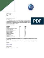 TAS Employee Status Letter