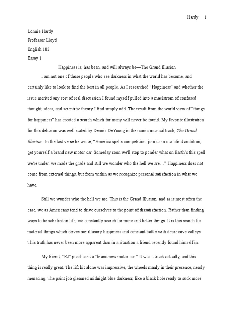Lonnie hardy essay 1 final with notes happiness self help dream fandeluxe Images