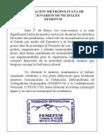 1° MAYO FEDERACION MUNICIPAL METROPOLITANA