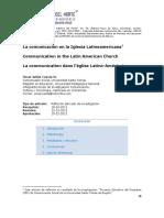La Comunicacion en La Iglesia Latinoamericana