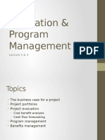 Lecture 3 & 4 Evaluation & Program Management