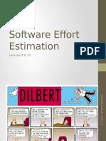 Lecture 9 & 10 - Effort Estimation