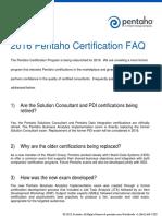 2016 Pentaho Certification Faq v4