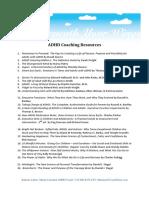 ADHD Coaching Resources