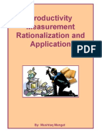 Productivity Measurement Rationalization and Application