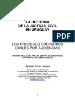 Los Procesos Ordinarios Por Audiencias. Santiago Pereira