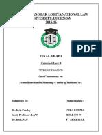 Criminal Law FD, Sem 4, Aruna Shanbaug