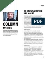 FNV Column Halwaardetijd Macht
