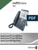 ENT PHONES IPTouch-4038-4068-4039Digital-OXEnterprise Manual 0907 PT