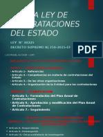 Nueva Ley de Contrataciones Del Estado Puro Titulos