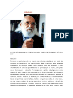 Paulo Freire e Os 4 Pilares Da Educacao